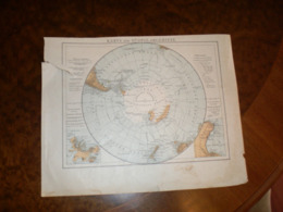 Karte Der Sudpolargebiete Volks Und Fanilien Atlas A Shobel Leipzig 1901 - Mapas Geográficas
