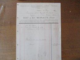 CAMBRAI EV. MORAUX FILS NITRATE DE SOUDE,SULFATE D'AMMONIAQUE,TOURTEAUX,PHOSPHATES FACTURE DU 19 MARS 1900 - France