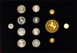 Medaillen Deutschland: Abschieds-Collection 130 Jahre Deutsche Mark 1871-2001: Eine Hochwertige Holz - Zonder Classificatie
