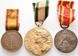 Medaillen Deutschland: Baden, Lot 3 Tragemedaillen Am Band: 1849 Befreuungsheer; 1902 Regierungsjubi - Zonder Classificatie