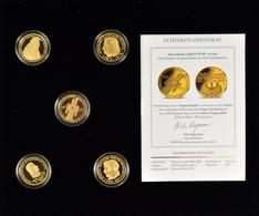 Medaillen Deutschland: Die Ersten Fünf In Gold Und Silber. 2 Kassetten Mit Jeweils 5 Original Replik - Zonder Classificatie