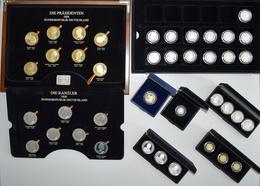 Medaillen Deutschland: Die Staatsmänner Der Bundesrepublik Deutschland. Bundeskanzler Und Bundespräs - Zonder Classificatie