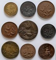 Medaillen Deutschland: Geflügelzucht / Ausstellungen: Lot 9 Medaillen Um 1900, überwiegend Bronze, Z - Zonder Classificatie