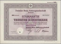 Alte Aktien / Wertpapiere: DEUTSCHLAND, Stuttgart (BaWü). Stammaktie über 1.000 Reichsmark, # 154347 - Hist. Wertpapiere - Nonvaleurs