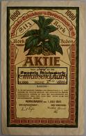 Alte Aktien / Wertpapiere: DEUTSCHLAND, Kork (Baden). Badische Tabakbau- U. Verwertungs AG. Gründera - Hist. Wertpapiere - Nonvaleurs
