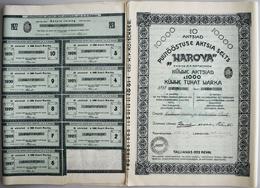 """Alte Aktien / Wertpapiere: ESTLAND: 21 Aktien 1922 Der """"Holzindustrie AG Narova Vorm. A.P. Kotschnew - Hist. Wertpapiere - Nonvaleurs"""