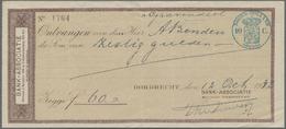 Alte Aktien / Wertpapiere: SCHECK: Niederlande, Dordrecht: 3 Schecks Der Bank-Associatie Wertheim & - Hist. Wertpapiere - Nonvaleurs