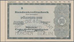 Alte Aktien / Wertpapiere: SCHECK: Pfälzische Kunden, Kredit-Genossenschaft EGmbH. Kundenkreditschec - Hist. Wertpapiere - Nonvaleurs