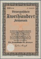 Alte Aktien / Wertpapiere: STEUERGUTSCHEIN: Lot 5 Steuergutscheine Von 11.12.1937 Mit Unterdruckbuch - Hist. Wertpapiere - Nonvaleurs