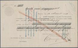 Alte Aktien / Wertpapiere: WECHSEL: Niederländisch-Indien (V.O.C.) Jetziges Indonesien, Wechsel (Wis - Hist. Wertpapiere - Nonvaleurs