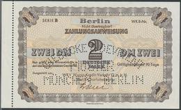 Alte Aktien / Wertpapiere: ZAHLUNGSANWEISUNG: Berlin, WKV Waren-Kredit-Verkehr GmbH. Zahlungsanweisu - Hist. Wertpapiere - Nonvaleurs