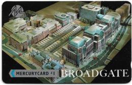 UK (Mercury) - Broadgate - 20MERB - MER042A, Used - Reino Unido