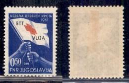 Trieste  - Trieste B - 1951 - 0.50 Din Pro Croce Rossa (39) - Gomma Originale (70) - Non Classificati