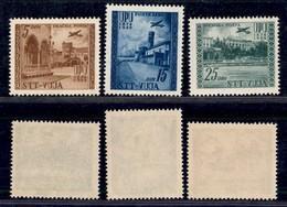 Trieste  - Trieste B - 1952 - 75 Anni UPU Posta Aerea (17/19) - Serie Completa - Gomma Integra (120) - Non Classificati