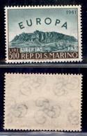SAN MARINO - 1961 - 500 Lire Europa Unita (568) - Gomma Integra (40) - Non Classificati