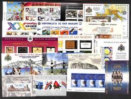 SAN MARINO - 1991/2009 - Insieme Di 17 Foglietti Del Periodo - Gomma Integra (150+) - Non Classificati