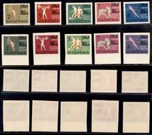 ALBANIA - 1963 - Campionati Europei (763772) - Le Due Serie Complete Dentellati E Non - Gomma Integra (42) - Non Classificati
