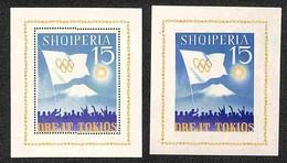 ALBANIA - 1964 - Foglietti Olimpiadi Tokio (block 22/23) - Dentellato E Non - Gomma Integra (50) - Non Classificati