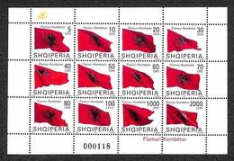 ALBANIA - 2007 - Minifoglio Bandiera (3122/3133) - Gomma Integra (100) - Non Classificati