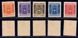 ALBANIA - 1940 - Segnatasse (35/39) - Serie Completa - Gomma Originale (80) - Non Classificati