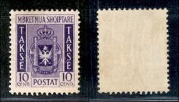 ALBANIA - 1940 - 10 Qind Segnatasse (36) - Gomma Integra (40) - Non Classificati