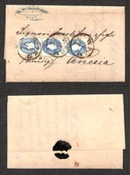 AUSTRIA - Tre Esemplari Del 15 Kreuzer (22) - Su Lettera Da Vienna A Venezia Del 4.11.61 - Non Classificati