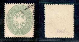AUSTRIA - 1863 - 3 Kreuzer Verde (25) - Leggero Annullo D'angolo - Usato (130) - Non Classificati