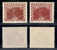 AUSTRIA - 1929 - 24 Groschen Vedute (504+505) - Gomma Integra (110) - Non Classificati