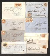 AUSTRIA - Territori Italiani D'Austria - 1853/1861 - Otto Lettere (una Raccomandata) Dal Trentino Con Affrancature Del P - Non Classificati