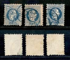 AUSTRIA - Levante - Durazzo (azzurro - Pti 8) - Tre 10 Soldi (4) - Usati - Non Classificati