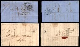AUSTRIA - Levante - Costantinopoli - Due Lettere Per Livorno Del 1840 E 1855 - Tassate - Non Classificati