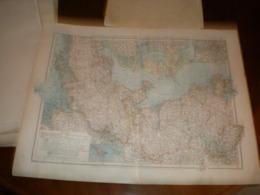 Schleswig Holstein Mecklenburg Und Freie Stadte Hamburg Und Lubeck Volks Und Fanilien Atlas A Shobel Leipzig 1901 Big Ma - Mapas Geográficas