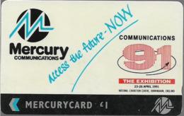 UK (Mercury) - Communications 91 - 20MERB-MER211 - 4.221ex, Used - [ 4] Mercury Communications & Paytelco
