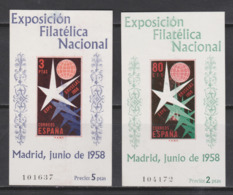 1958 HOJITAS BRUSELAS*. 60 € - Blocs & Hojas