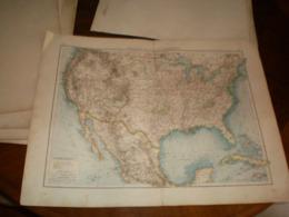 Vereingte Staaten Von Nordamerika Volks Und Familien Atlas A Shobel Leipzig 1901 Big Map - Cartes Géographiques