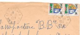 LETTRE DE LA REUNION ..1964.. CACHET  HEXAGONAL AGENCE RURALE   LES LIANES.. VOIR SCAN - Marcophilie (Lettres)