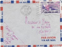LETTRE   PAR AVION ..VIET NAM...1956..   VOIR SCAN - Viêt-Nam