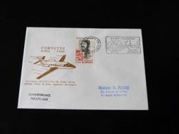 ENVELOPPE   CORVETTE  SN 601 A  VOL D'ESSAI  -  1972  - - Vliegtuigen