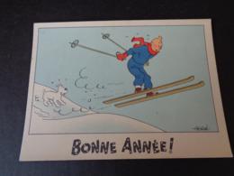 Illustrateur ( 1356 )  Hergé  Tintin  Kuifje  Bonne Année - Hergé