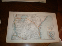 Deutsch Ostafrika Volks Und Familien Atlas A Shobel Leipzig 1901 Big Map - Carte Geographique