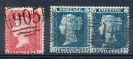 GB - YT N° 14 + 15 En Paire - Cote: 165,00 € - 1840-1901 (Viktoria)