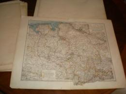Hannover Oldenburg Braunschweig Und Freie Stadt Bremen Volks Und Familien Atlas A Shobel Leipzig 1901 Big Map - Mapas Geográficas