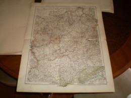 Hessen Nassau Grossherzogtum Hessen Und Furstentum Waldeck Volks Und Familien Atlas A Shobel Leipzig 1901 Big Map - Mapas Geográficas