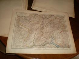 Elsass Lotheringen Baden Wurtemberg Und Rheinpfalz Volks Und Familien Atlas A Shobel Leipzig 1901 Big Map - Mapas Geográficas