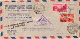 1947 VOLO SPECIALE LUCCA MILANO  - Franc - 1900-44 Vittorio Emanuele III