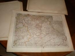 Nord Und Mittelbayern Volks Und Familien Atlas A Shobel Leipzig 1901 Big Map - Mapas Geográficas