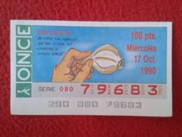 SPAIN CUPÓN DE ONCE LOTTERY LOTERÍA ESPAÑA 90 DON QUIJOTE LA MANCHA MIGUEL CERVANTES DICHOS ESCENAS REFRANES AJO GARLIC - Billetes De Lotería