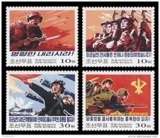 North Korea 2013 Mih. 5972/75 Propaganda Posters. Ship. Planes MNH ** - Corée Du Nord