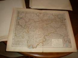 Sudbayern Tirol Und Salzburg Volks Und Familien Atlas A Shobel Leipzig 1901 Big Map - Geographical Maps
