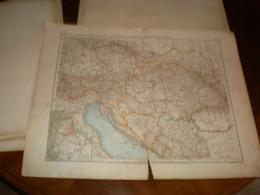 Ubersichtskarte Von Osterreich Ungarn Volks Und Familien Atlas A Shobel Leipzig 1901 Big Map - Cartes Géographiques